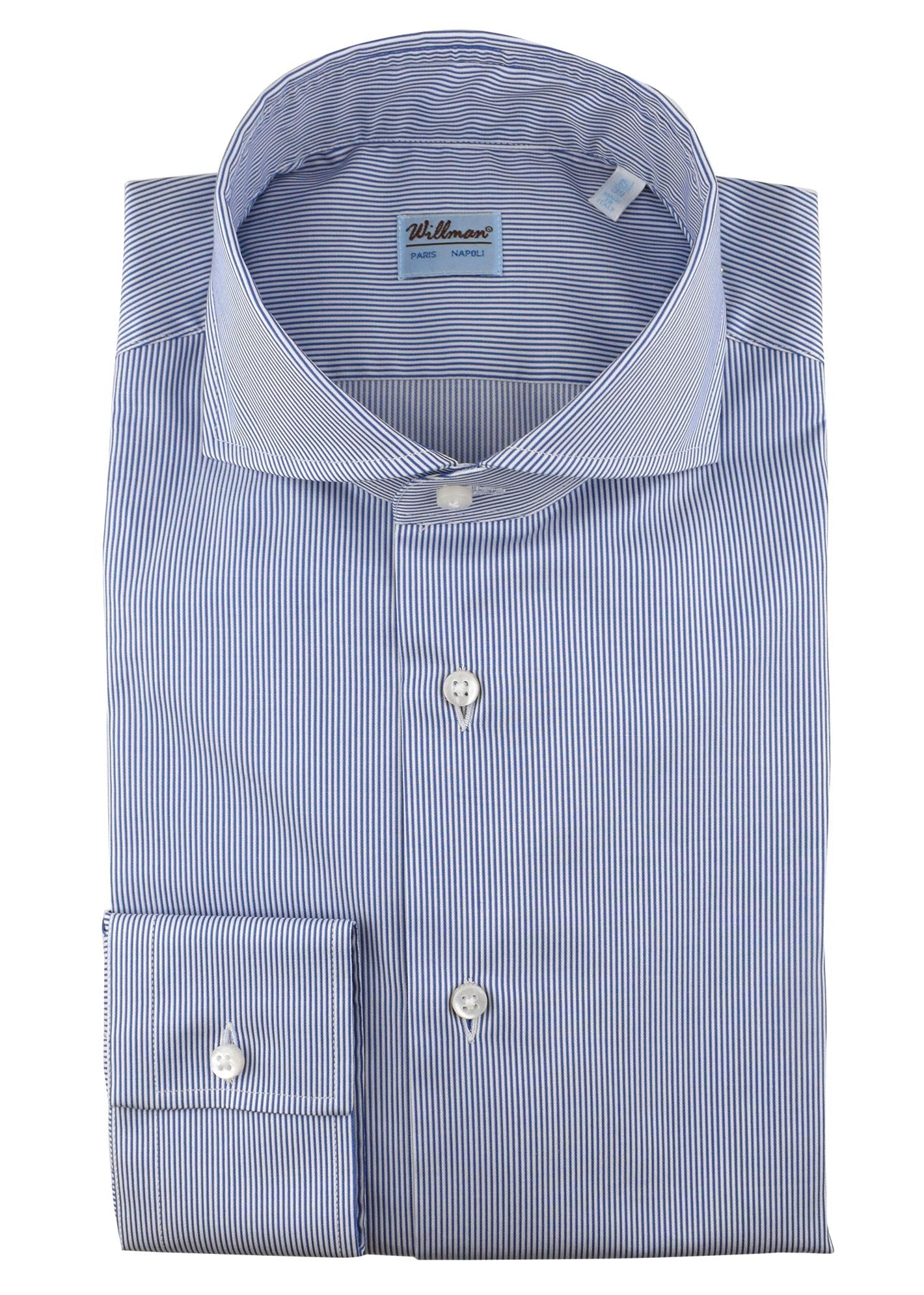 13WCH  - Chemise coton rayures marine
